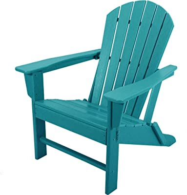 ASTEROUTDOOR Folding Plastic Adirondack Classic Outdoor Composite Chair Design-Easy Maintenance & Weather Resistant for Patio Deck Garden, Backyard, Beach, Pool and Fire Pit Seating, Blue