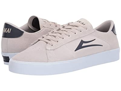 Lakai Newport (White/Navy Suede) Men