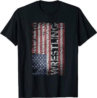 Grunge Wrestling Shirt USA Flag Wrestle T-Shirt Gift Idea