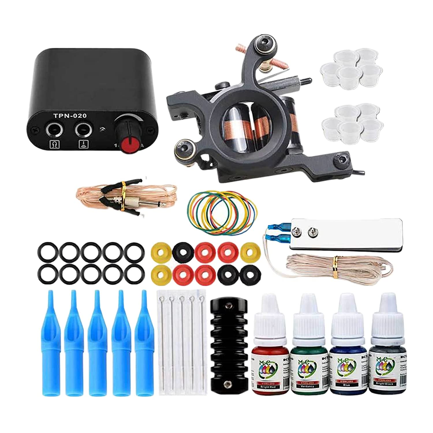 Complete Tattoo Kit Color Inks Supply Machine Direct sale of manufacturer Power Coil Free shipping New