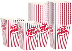 Movie Theater Popcorn Boxes – Paper Popcorn Box Red and White, Great Popcorn..