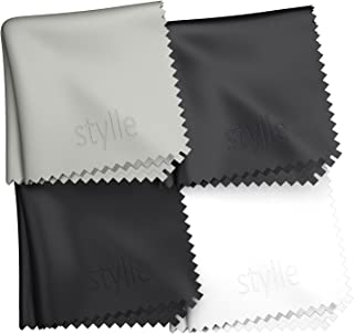 Microfiber Cleaning Cloth Set for Eyeglasses, Sunglasses, iPhone, Computer Tablet 5.9 X 6.7 inches Set of 4