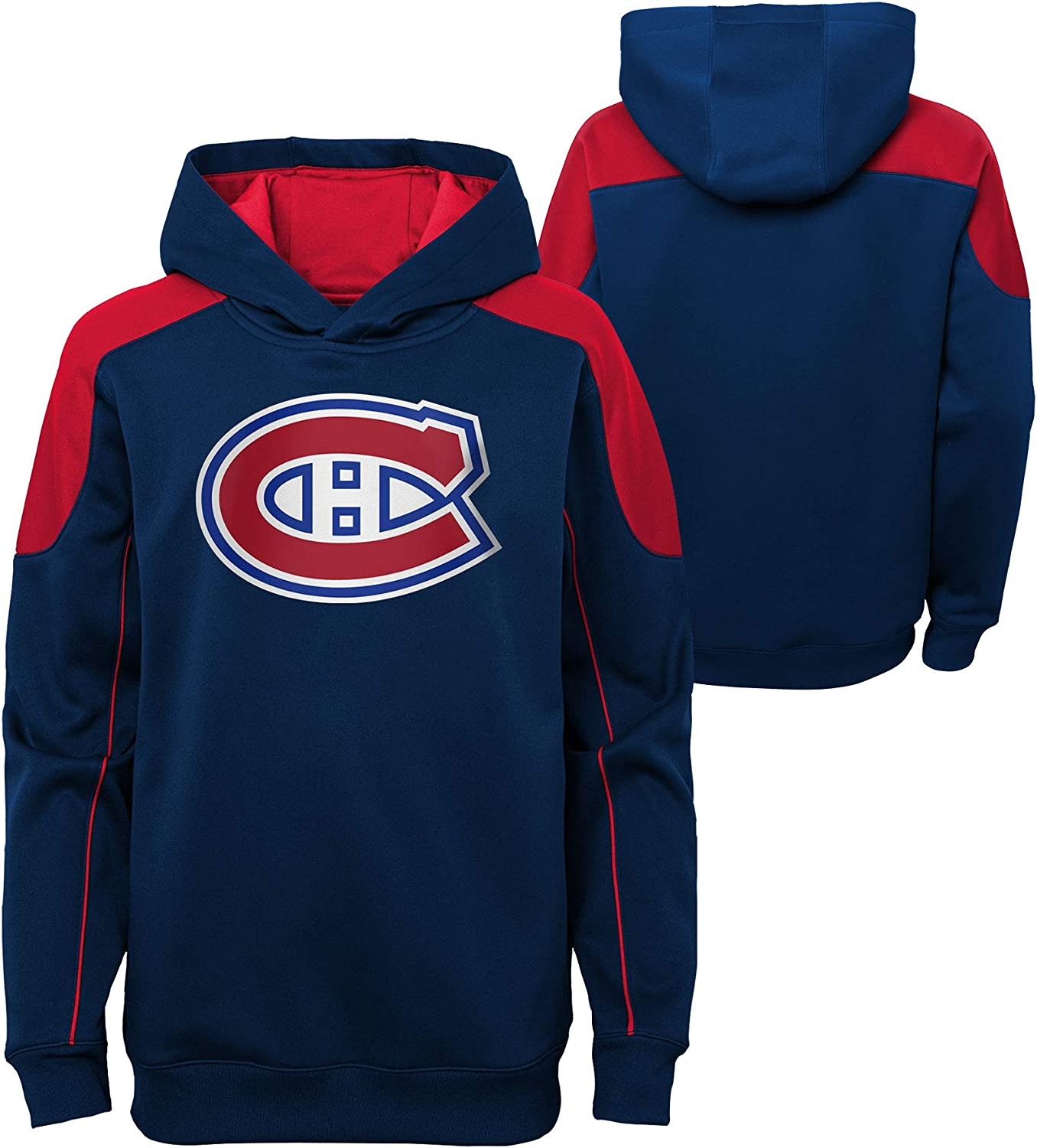 Outerstuff Youth Montreal Canadiens Rocked Performance Pullover Hoodie