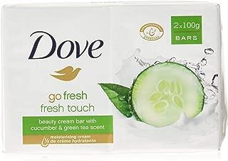 Dove Go Fresh Beauty Bar Soap, Cool Moisture-Fresh Touch, 100 G / 3.5 Oz (Pack of 12)