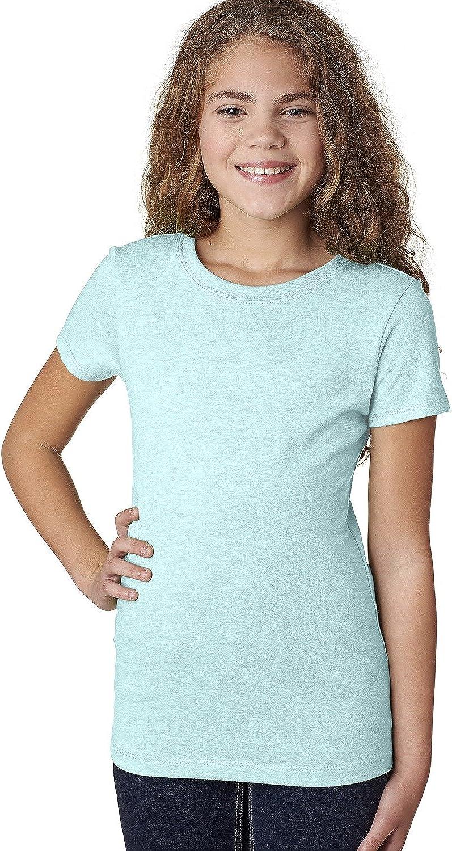 Next Level Youth Princess CVC T-Shirt - Ice Blue - M - (Style # 3712 - Original Label)