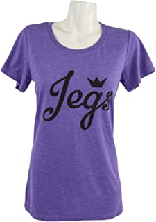 JEGS Apparel and Collectibles 18171 Juniors JEGS Script Logo Purple Frost T-Shir