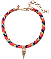 Rebecca Minkoff Climbing Rope Choker Necklace with Charm Drop