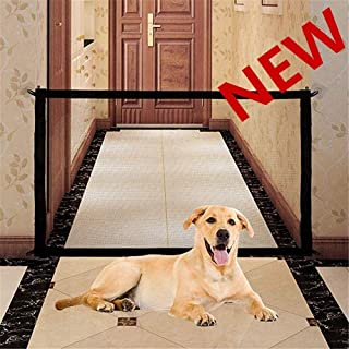 Joyevic Retractable Pet Gate,Magic Gate Portable Folding Safe Guard Install Anywhere for Pet Safe,Pet Isolation Fence Net