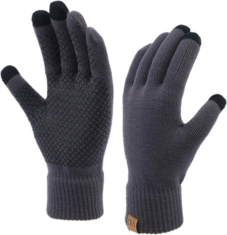 Winter Touchscreen Gloves for Men Women Anti-Slip Touch Screen Warm Lined Knit