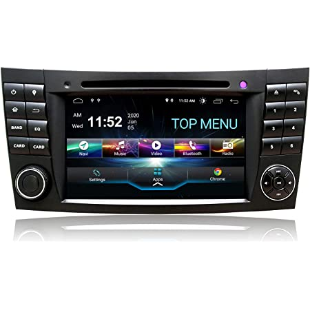 Swtnvin Android 10 0 Autoradio Stereo Headunit Passend Für Mercedes Benz E Klasse W211 Cls W219 Dvd Player Radio 7 Zoll Hd Touchscreen Gps Navigation Mit Bluetooth Wifi Swc Dsp Tpms 2gb 80gb Navigation