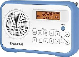 Sangean PR-D 18 - Radio Portátil, Blanco/Azul