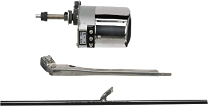 Seachoice 41801 Self-Parking Boat Windshield Wiper Kit, 12-Volt, Adjustable Arm, 110-Degree Sweep, 11-Inch Wiper Blade