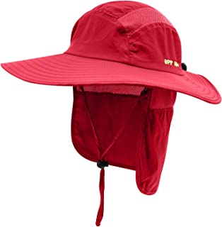 Home Prefer Mens UPF 50+ Sun Protection Cap Wide Brim Fishing Hat with Neck  Flap 630f5ec15610