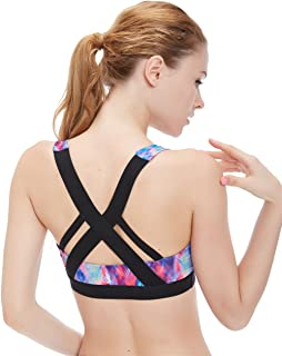Women's Workout Yoga Clothes Activewear Racerback Strappy Sports Bras