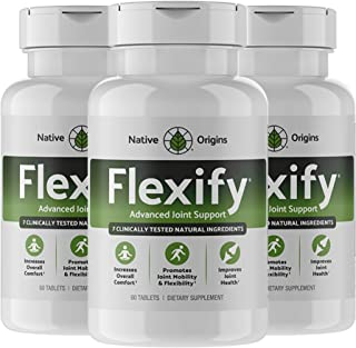 FLEXIFY – Glucosamine with Chondroitin Turmeric MSM Boswellia D3 & Ginger Root – Most Complete Natural Non-GMO Joint Pain ...