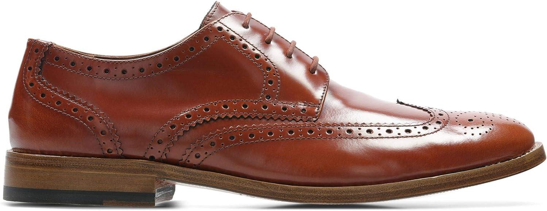 Clarks James Wing läder skor skor skor i Mahogany  spara upp till 50%