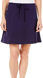Petite Solid French Terry Drawstring Skort 16W Short