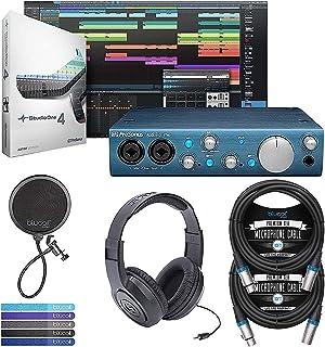 PreSonus AudioBox iTwo Audio Interface for Mac, Windows PC, iPad Bundle with Studio One Artist Software Download, Samson S...