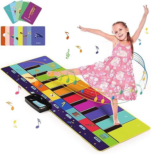 Joyjoz Enfant Tapis Musical Aves 100+ Sons, Tapis Piano 4 Modes, Tapis de Dance pour Enfant Instrument Tapis Musique ...