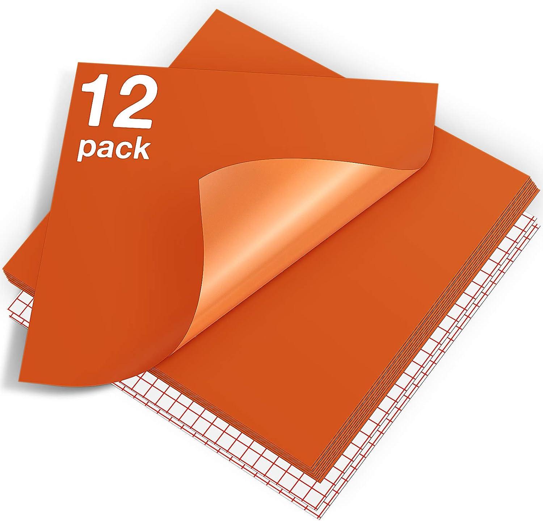 HTVRONT Orange Permanent Vinyl 12 New life Pack Cricut for Price reduction