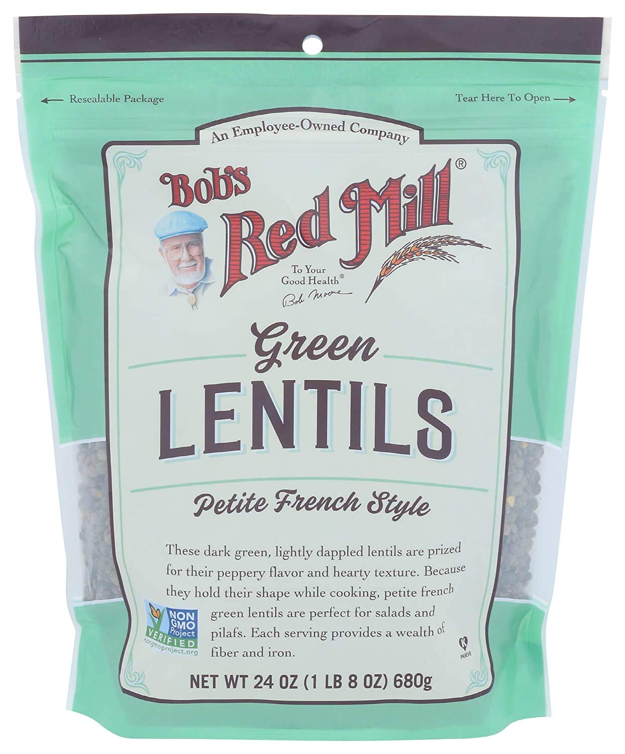 Bob's Red Mill Petite 2021 autumn and winter new French Green 3 Topics on TV Ounce of Lentils Pack 24