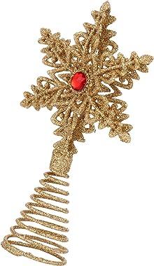 OSALADI Arbre de Noël Topper Flocon de Neige Arbre de Noël Scintillant Arbre de Noël Scintillant Étoile Vacances Noël Fête Fo