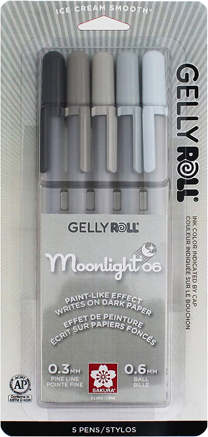 Sakura Gelly Roll Moonlight 5 Pack G 06 point Ranking TOP18 Gray Opaque Fine Special sale item