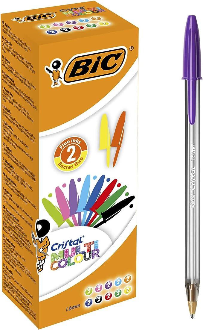 2393 opinioni per BIC Penne a Sfera, Cristal Multicolour, per Fornitura per Cancelleria Scuola e