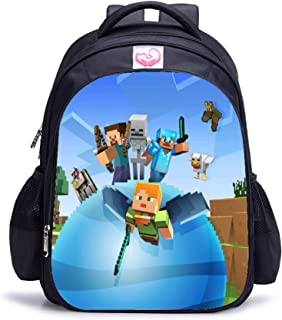 Minecraft My Word Games Casual Kindergarten Boys Chirldren Cartoon Printed Backpacks Large Capacity Student Schoolbag Bookbags Waterproof Nylon Shoulder Bags