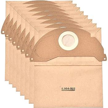 2501TE 2601 10x Sacs à poussière papier pour Kärcher 2501 2601 Plus