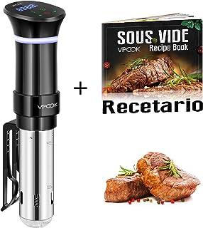comprar comparacion VPCOK Sous Vide Roner Cocina Baja Temperatura, 1000W, Pantalla LCD táctil, Temporizador, Cocinero Circulador, Máquina de C...