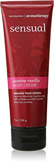 Bath & Body Works Aromatherapy Sensual Jasmine Vanilla Body Cream 8 Oz.