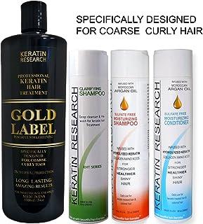 Tratamiento Profesional de Keratina Chocolate Gold Label Set de 4 Botellas 1000ml, Fórmula Mejorada y