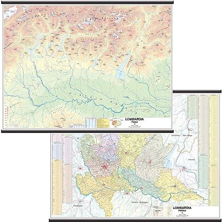 La Cartina Fisica Della Lombardia.Carta Geografica Murale Regionale Lombardia 100x140 Bifacciale Fisica E Politica Amazon It Cancelleria E Prodotti Per Ufficio