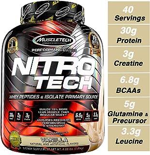 MuscleTech 正氮蛋白 蛋白粉,乳清蛋白,乳清分离物,香草,40份(4磅)