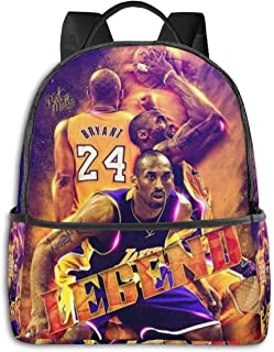 Mamba Kobe Casual Backpack Lightweight School Daypack Laptop Multipurpose Shoulders Bag