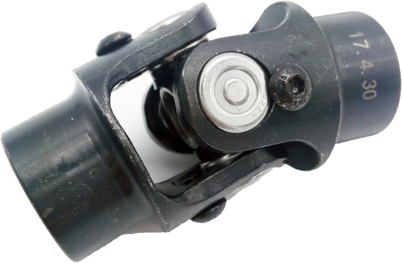 Working Angle 35/°Degree Nickel plated 3-1//4 WMPHE Single Steering Shaft Universal U Joint 3//4-36 Spline x 3//4 DD 83mm