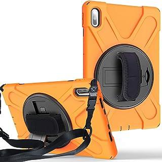 Huawei MatePad 10.4インチ (BAH3-W09/BAH3-AL00) タブレットケース【MYH】HUAWEI MatePad 10.4インチ360°回転スタンド機能 調節可能なショルダーストラップ 三重構造 耐衝撃 防塵 丈夫...