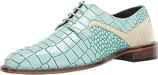 Men's Triolo Croc Lizard Print Lace-up Oxford