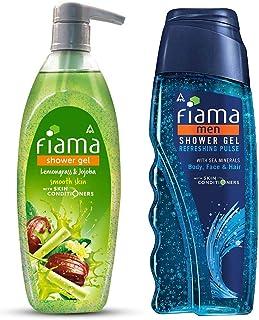 Fiama Lemongrass And Jojoba Clear Springs Shower Gel, 500ml & Fiama Men Refreshing Pulse Shower Gel, 250ml