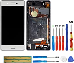 swark LCD Display Compatible with Sony Xperia X Performance F8131(White + Frame Touch Screen Display + Tools