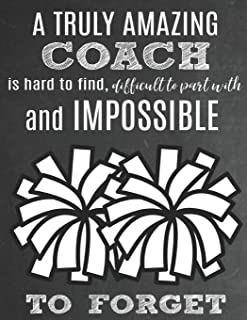 A Truly Amazing Coach Is Hard To Find, Difficult To Part With And Impossible To Forget: Thank You Appreciation Gift for Cheerleading Coaches: Notebook ... | Diary for World's Best Cheerleader Coach