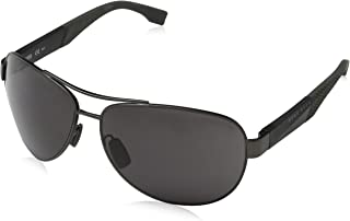 BOSS by Hugo Boss Men's Boss 0915/s Aviator Sunglasses, Grey, 65 mm