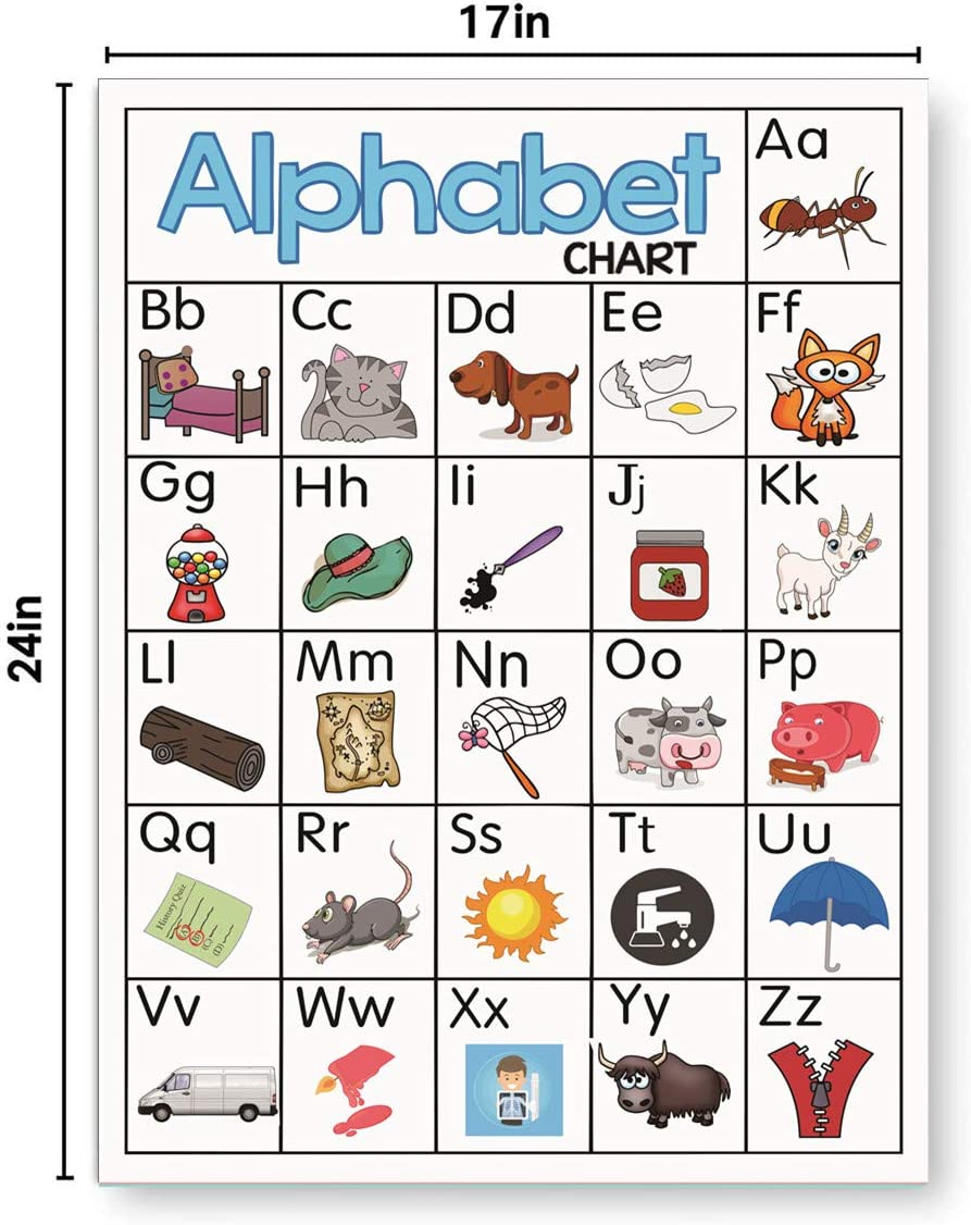 ABC Alphabet Educational Preschool Poster Chart Set for Toddler and Kid    School Decorations Classroom Organization for ...