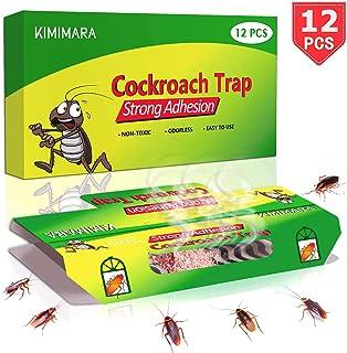Kimimara Cucaracha Trampas, 12 Pcs Trampas para cucarachas con Cebo Incluido, para el Control de Plagas en el Hogar Matar Cucarachas Hormigas Arañas y Otros Insectos