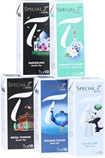Special.T – Schätze Chinas Mix – Schwarzer Grüner Blauer Weißer Tee 5 Sorten à 10 Kapseln