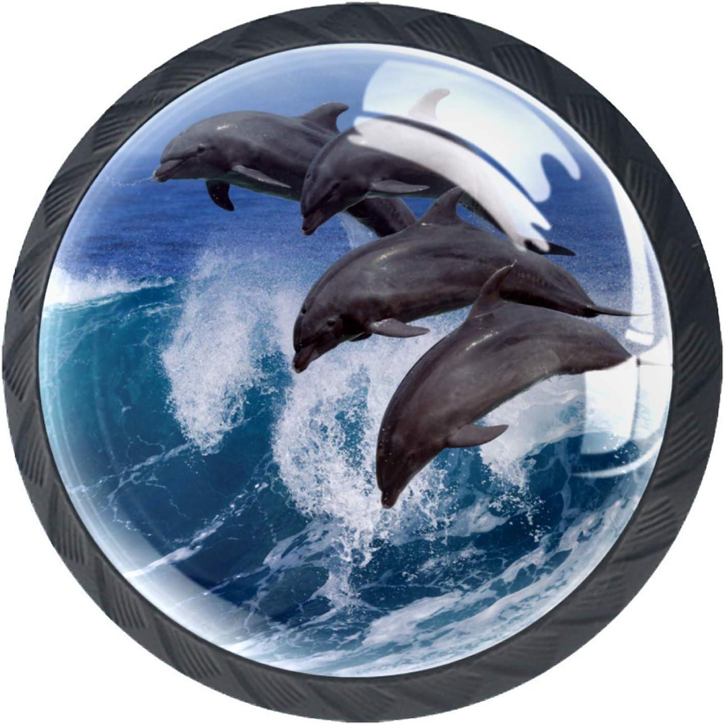 Door Knobs Ocean Dolphin Drawer Knobs Lovely Handle Pull Cupboar