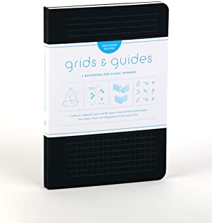 Grids & Guides Softcover (Black): Two Notebooks for Visual Thinkers (classic black notebooks, 5.75 x 8.25
