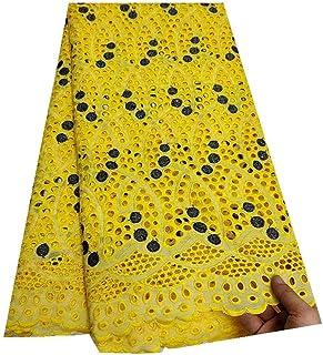 Suisse africaine Dentelle Tissu Voile Femmes Robe Suisse Voile Dentelle Coton brodé Tissu africain dentelle Tissu Nigerian...