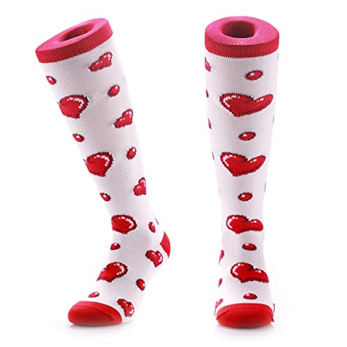 c40aa1da8ff Samson Hosiery ® White   Black Hearts Funky Funny Socks Valentines Gift  Novelty Fashion Sports And